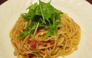 シラスと水菜のスパゲッティー