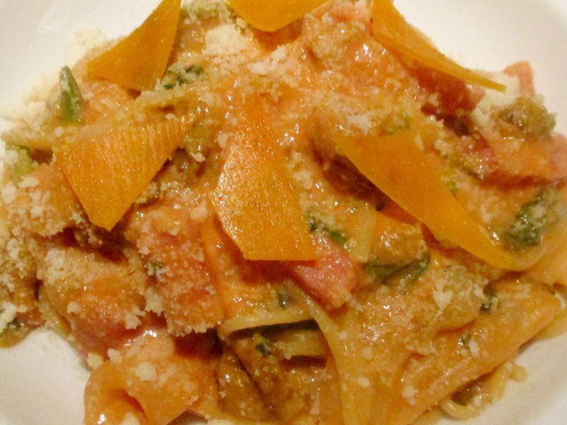 時代屋オールドオークのオリジナル・スパゲティ春野菜のチーズナポリタン